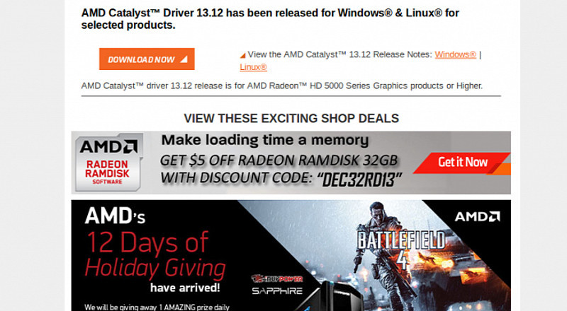 Amd Catalyst 13.12 Driver Download