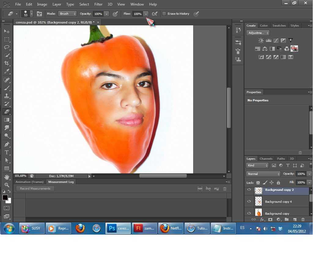 Tutorial de Photoshop, pon tu cara en una fruta.