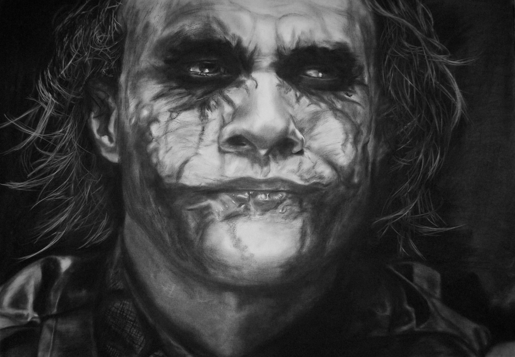 The Joker - Heath Ledger (Retrato/Realista/Gran tamaño)