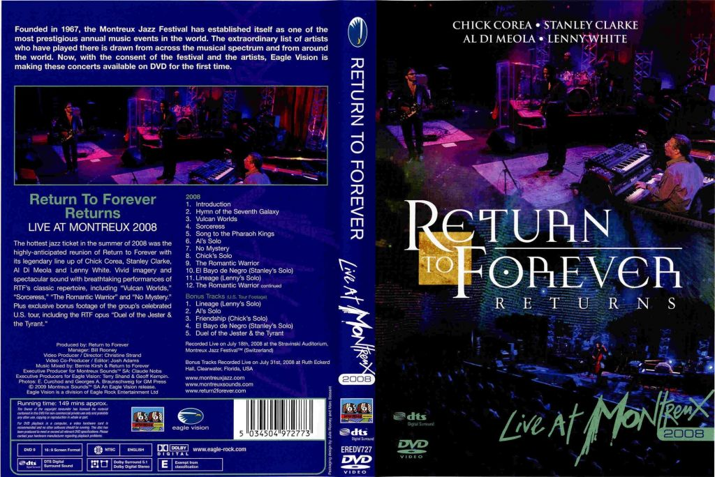 Return To Forever: Returns - Live at Montreux 2008 [FullDVD]