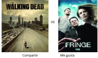#Series  Duelo de series; The Walking Dead vs Fringe.