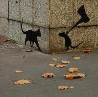 #StreetArt  Itchy & Scratchy o Tom & Jerry