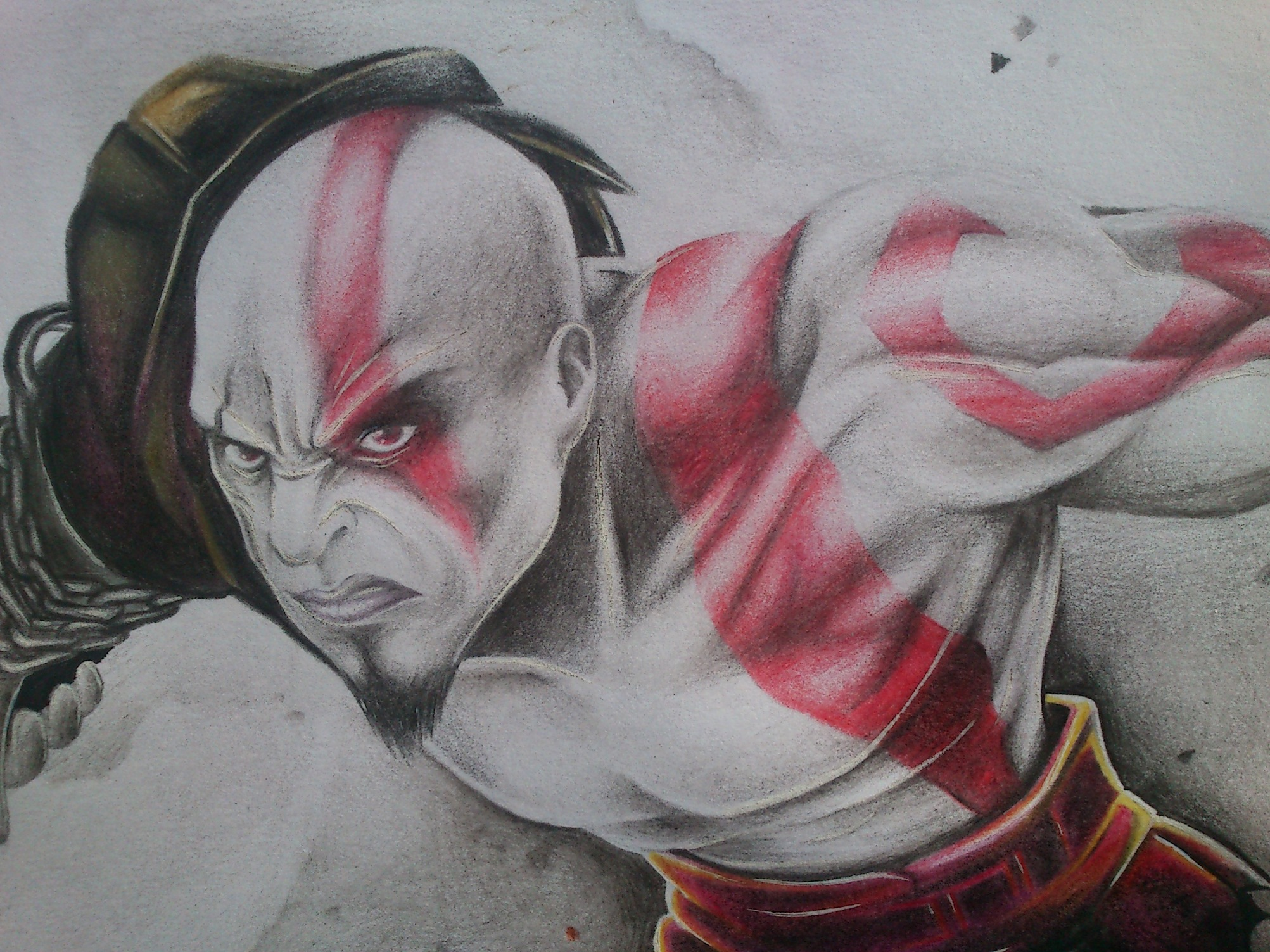 dibujo kratos god of war (yras)