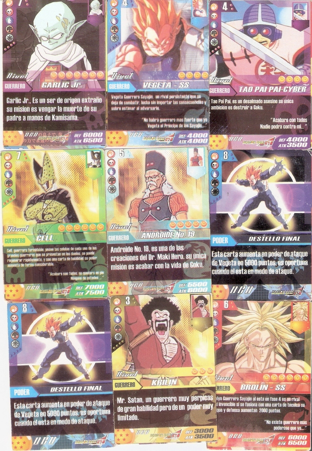 Dragon ball super colección de cartas
