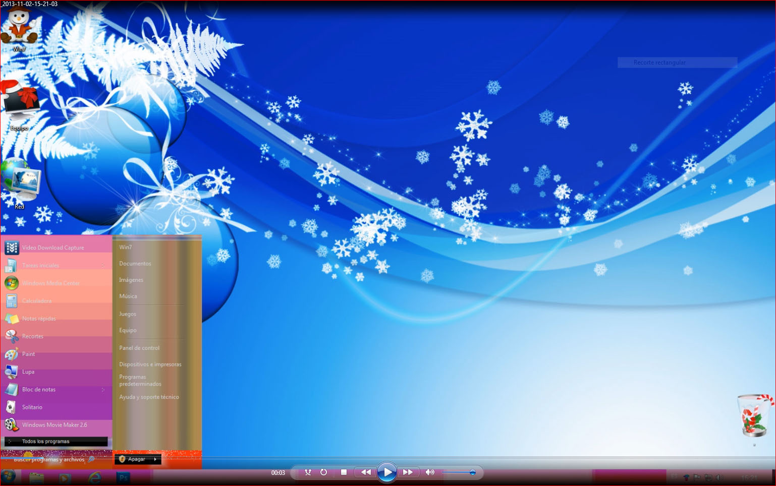 Tema Theme Navidad En HD Para Windows 8.1 RTM 8 y 7
