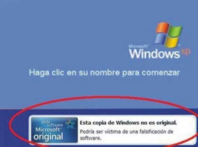 Validacion de windows xp a original
