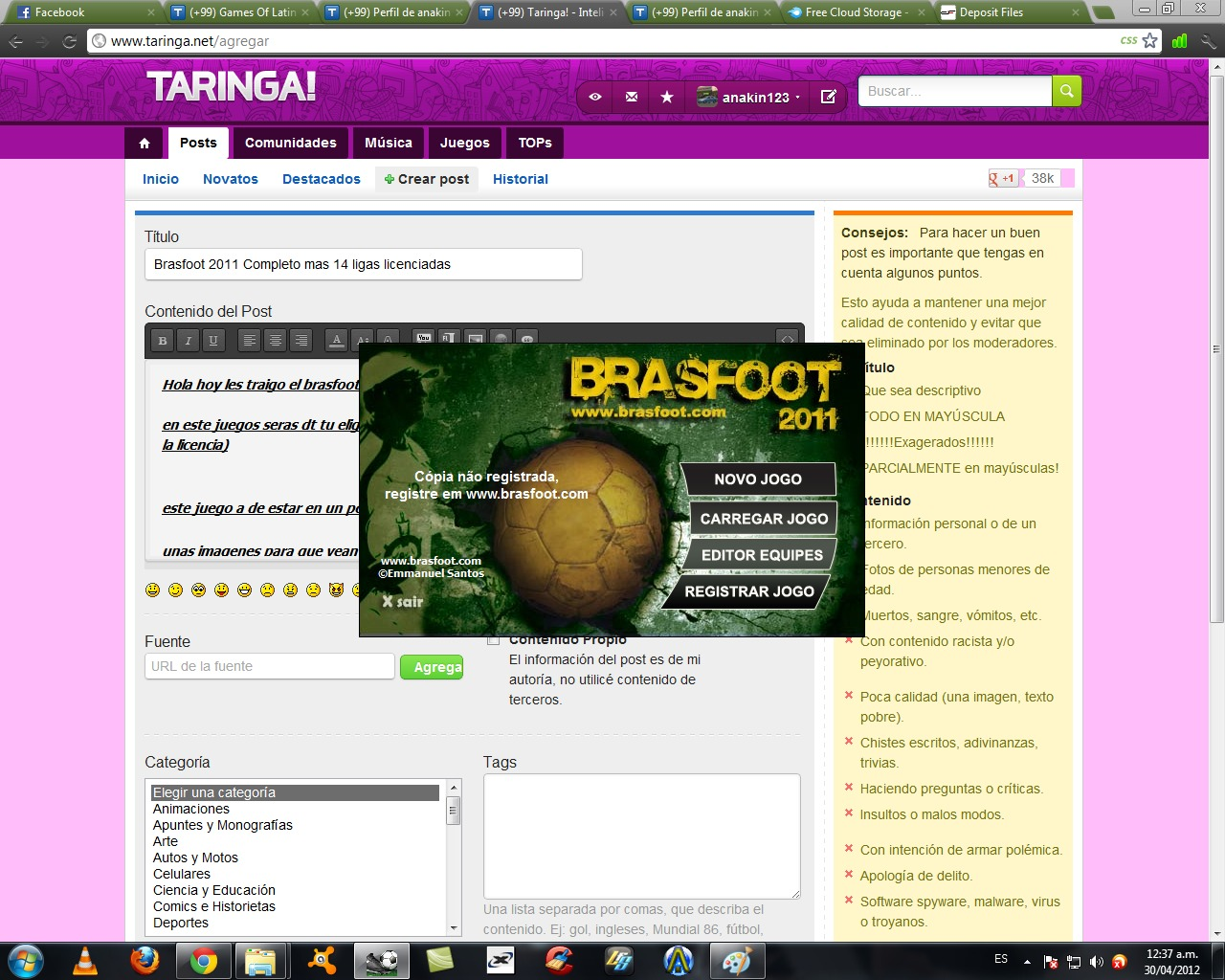 paises do brasfoot 2011